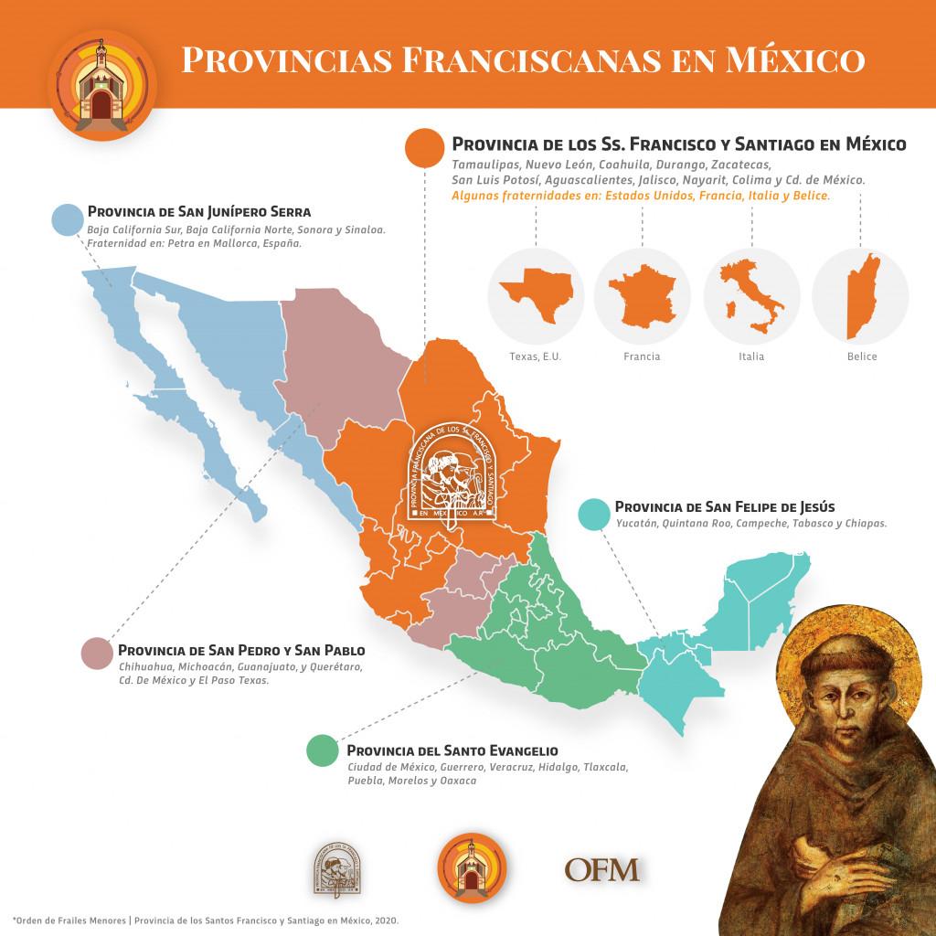 Provincias Franciscanas en México